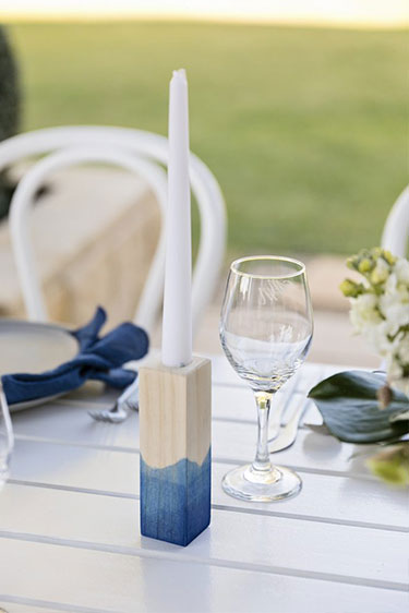 LB Event Collective - Navy & Timber Candlesticks